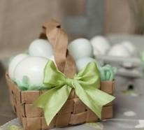 Wie Sie einen festlichen Osterkorb basteln können