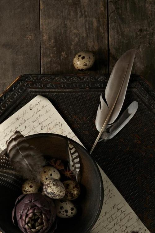 ostern dekoration frisch festlich originell federn