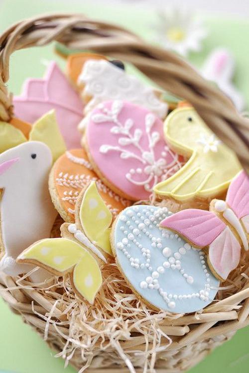 ostern dekoration frisch festlich ostereier hasen küken wachtel gelb frisch farben schüssel-blumen-vasen-frühling-pastellfarben