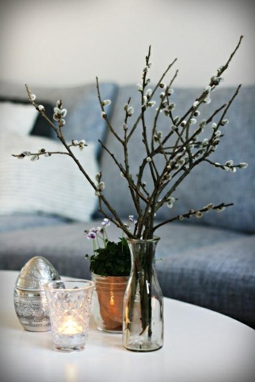 ostern dekoration frisch festlich ostereier hasen küken wachtel gelb frisch farben schüssel-blumen-vasen
