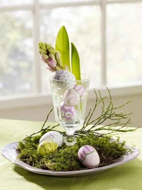 ostern dekoration frisch festlich ostereier hasen küken wachtel gelb frisch farben vasen-frühling-feiertag