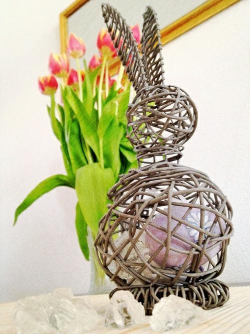 ostern dekoration frisch festlich ostereier hasen tulpen