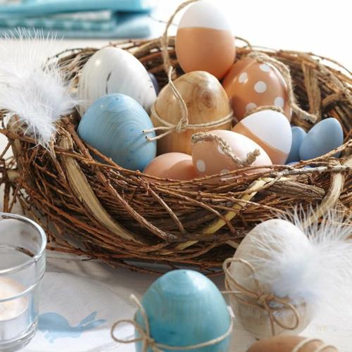ostern dekoration frisch eier bunt bemalt