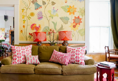 professionelle Dekokissen Muster sofa samt bezug