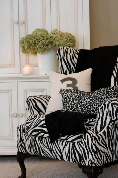 professionelle Dekokissen Muster zebra bezug