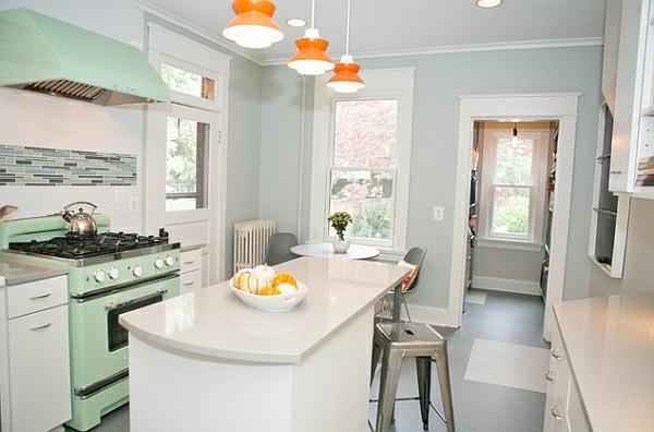 Retro Küche Orange Pendelleuchten