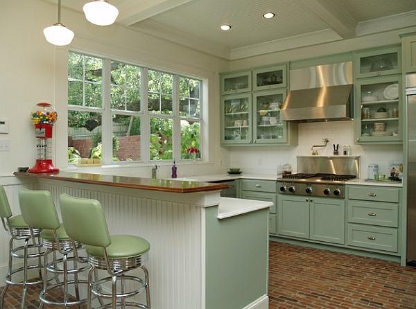 Retro Küche - die neuen, alten Kücheneinrichtung Trends für 2014