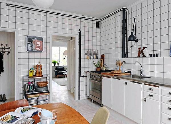 retro küche wandfliesen weiß quadratisch