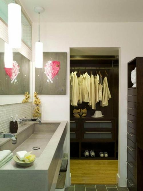 schön designten Kleiderschrank ankleideraum badezimmer waschbecken