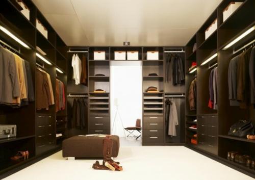 schön designten Kleiderschrank ankleideraum dunkle farben