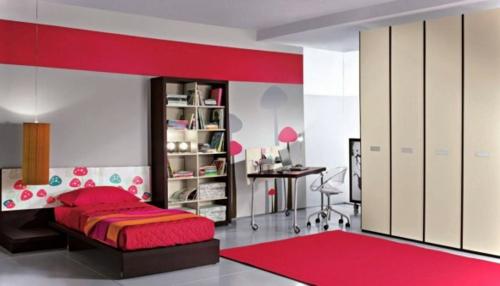 designten Kleiderschrank ankleideraum schlafzimmer rot