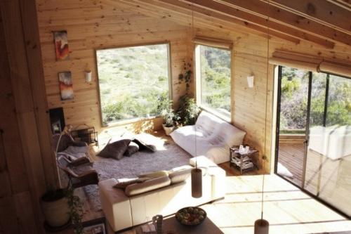schöne Wohnzimmer Ideen einrichten hängelampen holz panelen