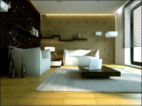 schöne Wohnzimmer Ideen einrichten sofas hoch lehnen