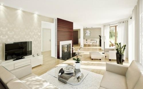 schöne Wohnzimmer  wohnlandschaft beige designer