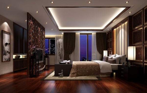 schlafzimmerlampe asiatischer stil einbaudeckenleuchten tischlampe