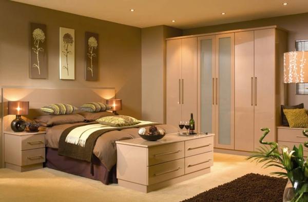 schlafzimmerschrank design neutrale farben