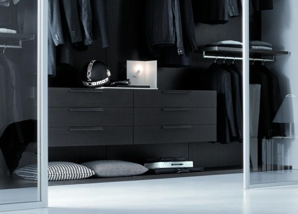 schlafzimmer schrank designs schwarz schiebetüren