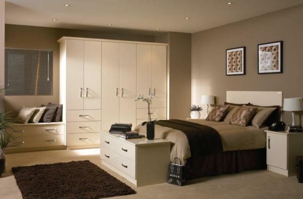 schlafzimmer schrank designs weiß lackiert