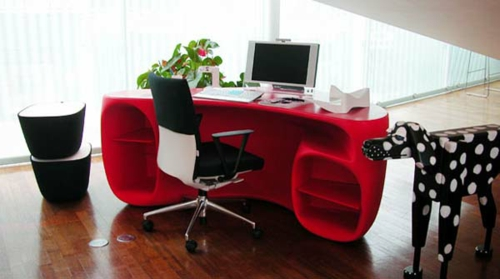 schreibtisch bürotisch ergonomisch boabab rot