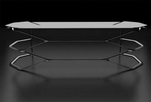 Futuristische Büro Einrichtung mit Metall 3D-Wandpaneelen - 2013 ...