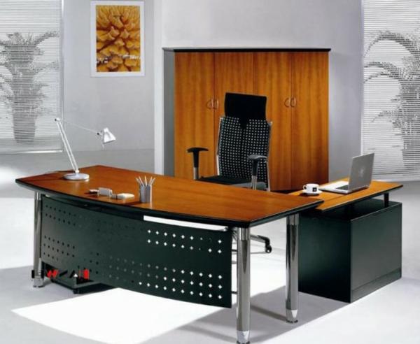 tisch design büromöbel stahl holz