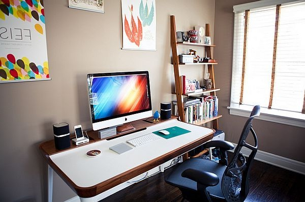 Schreibtisch design f r das moderne minimalistische b ro - Weihnachtsdeko buro ...
