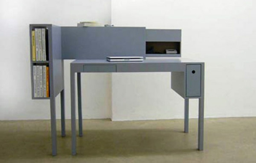 schreibtische büro bureau grau design martin holzapfel