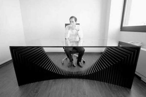 schreibtische büro glas tischplatte groß ergonomisch stilvoll