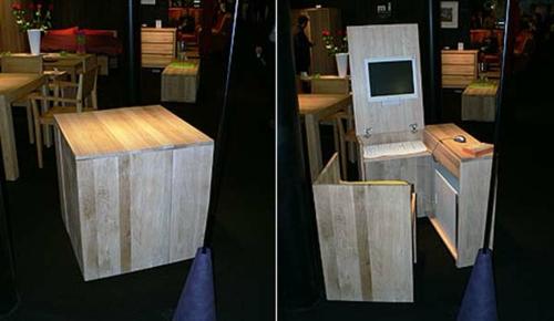 schreibtische büro schubladen versteckt klappbar bürotisch stuhl