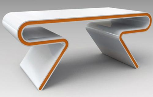 schreibtische büro schubladen weiß orange atomare