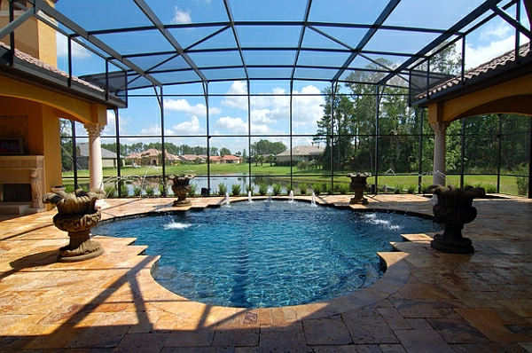 Schwimmbecken zu hause 50 design ideen f r den eigenen indoor pool - Wintergarten mit pool ...