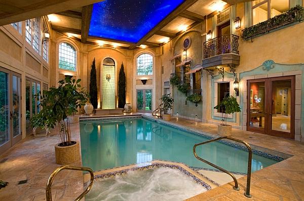 schwimmbecken zu hause romantisch