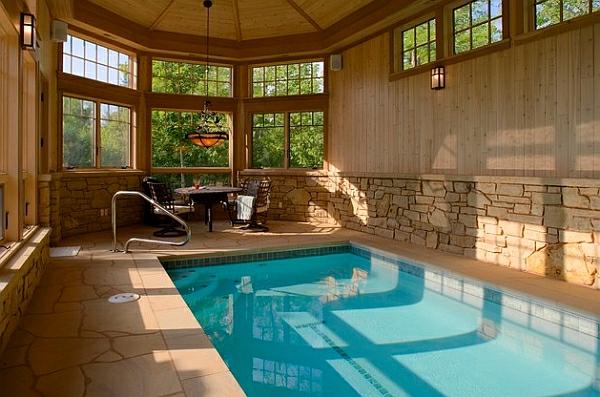 schwimmbecken zu hause rustikal