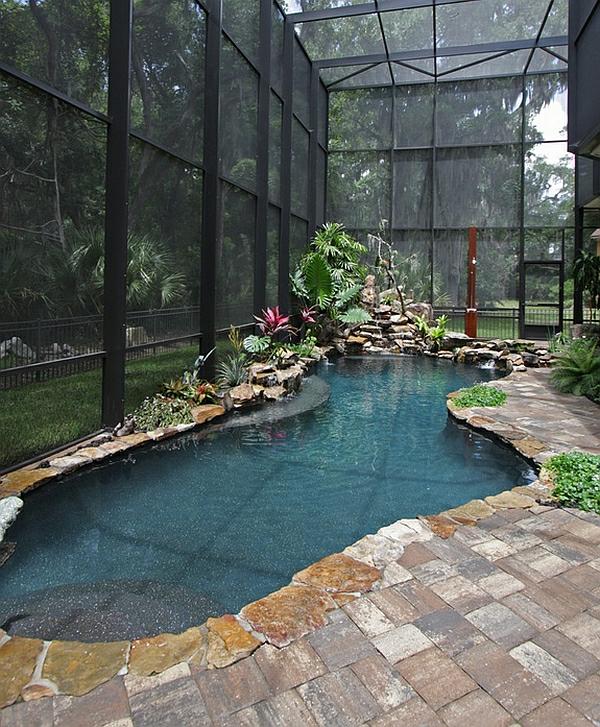 schwimmbecken zu hause 50 design ideen f r den eigenen indoor pool. Black Bedroom Furniture Sets. Home Design Ideas