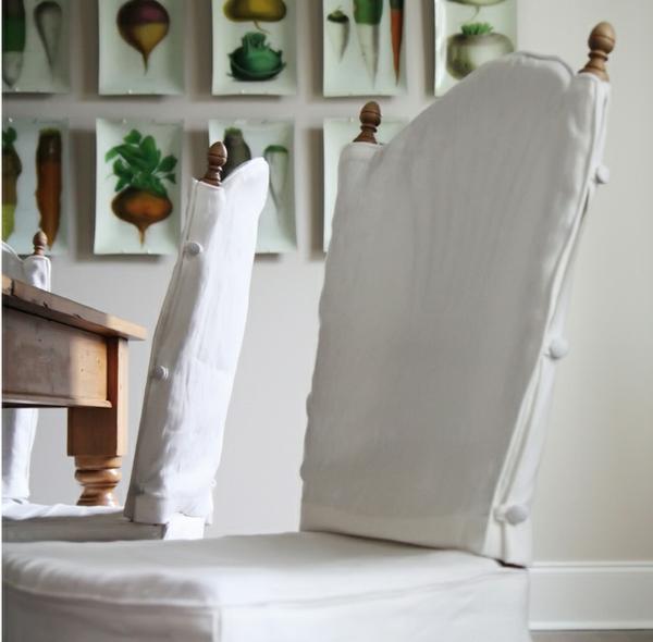 stuhlhussen küche weiß knöpfe