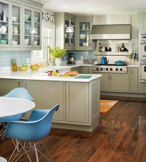 U-Form Küche - 35 Designideen für Ihre moderne Kücheneinrichtung | {Küchenideen u form 42}