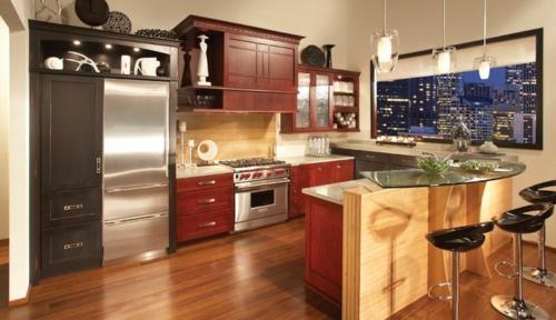 u-form küche ergonomisch kirschholz