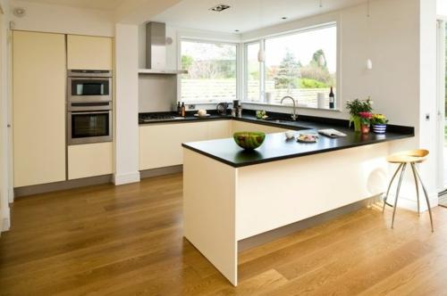 u-form küche modernes design schwarze arbeitsplatte