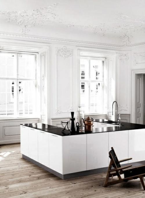 u-form küche ornamenten decke