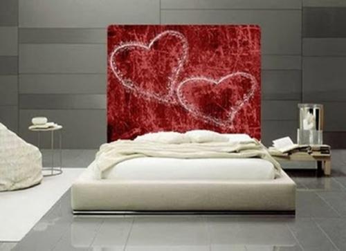 valentinstag schlafzimmer wand kunst herzen