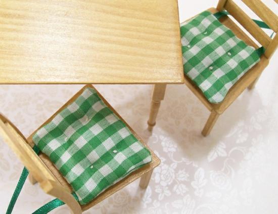karo grün weiß sitzkissen