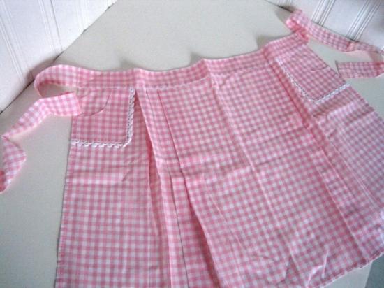 karo stoff rosa weiß