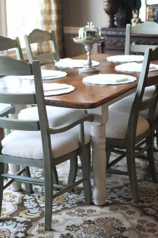 vintage ambiente küche einrichtung perserteppich