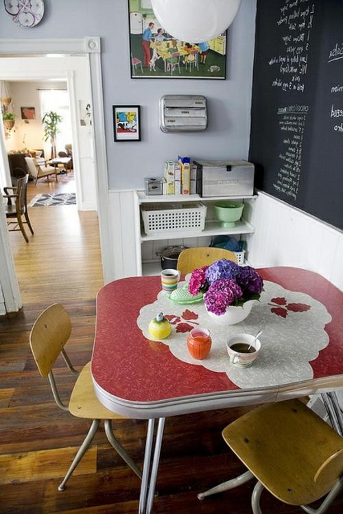 vintage tische schaffen ein gem tliches ambiente in ihrer k che. Black Bedroom Furniture Sets. Home Design Ideas