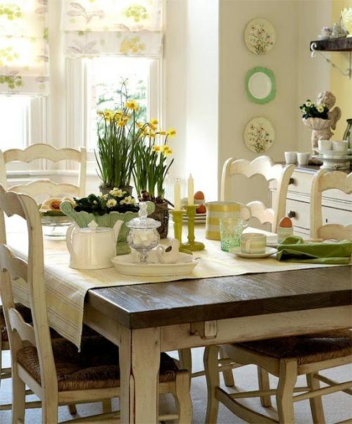 vintage tische weiße stühle sisal sitze