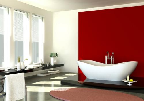 Badezimmer : Badezimmer Rot Weiß Badezimmer Rot . Badezimmer Rot ... Dekoideen Badezimmer Farbe Braun Und Weis