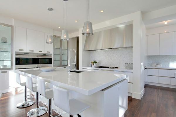 wohnung verschönern minimalistisches küchendesign weiß