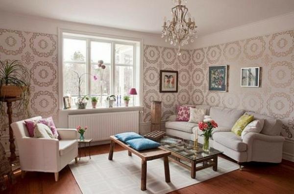 die perfekte wohnzimmer-tapete - wie sie die richtige farbe aussuchen, Wohnideen design