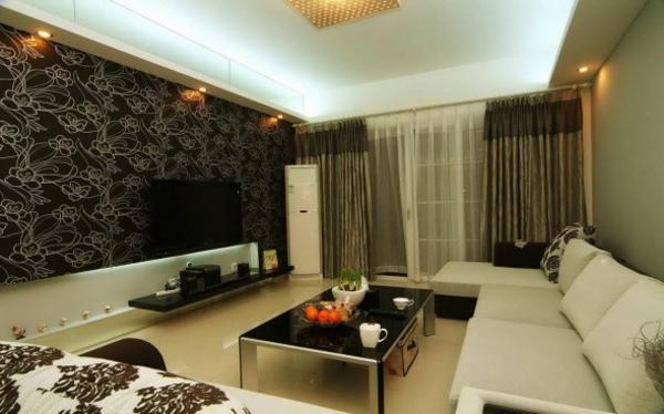 die perfekte wohnzimmer-tapete - wie sie die richtige farbe aussuchen, Wohnzimmer