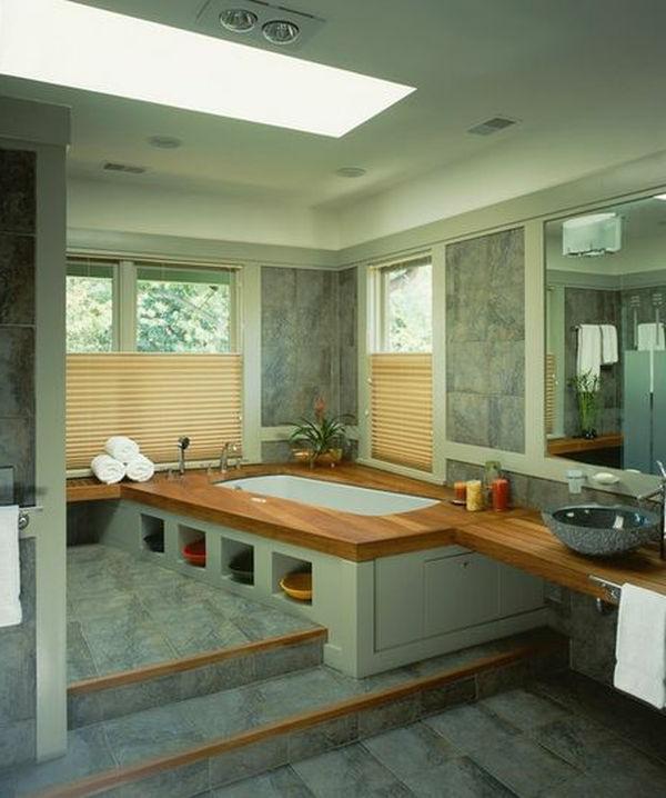 Badeinrichtung mit Stil dachfenster tageslicht